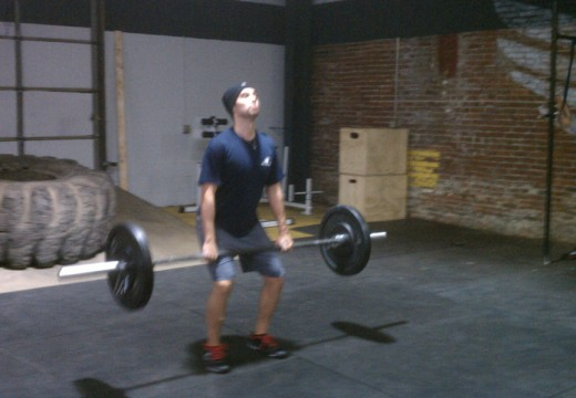 WOD 10302011: Power Cleans Knees to Elbows