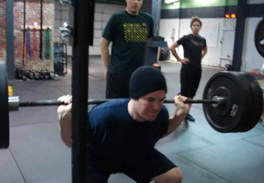 WOD 121211: Burpees Low Bar Back Squats
