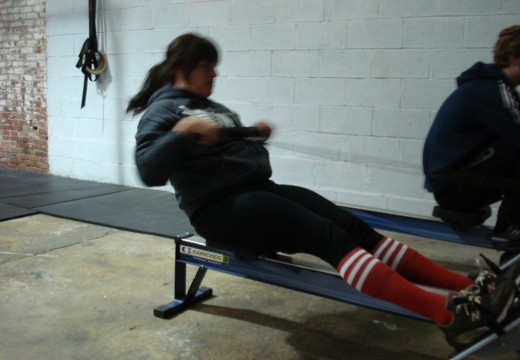 WOD 121911: Bench Press Row Double Unders
