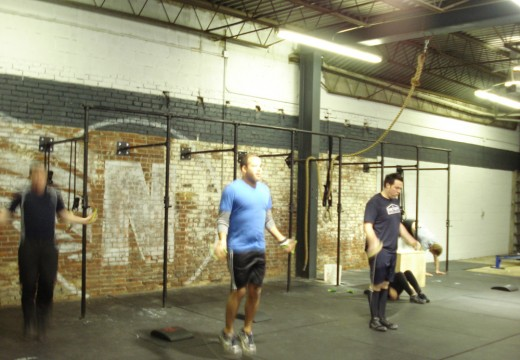 WOD 122811: Wall Climbs Situps Double Unders