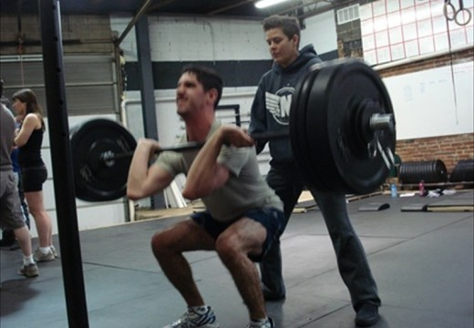 WOD 011612: Front Squats KB Snatch Broad Jumps Tuck Jumps