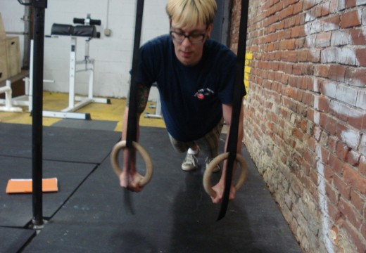 WOD 021212: Bench Press Ring Pushups Situp and Press KBSDLHP