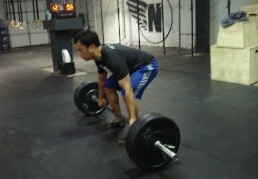 WOD 032312: Deadlifts Lunges High Pulls