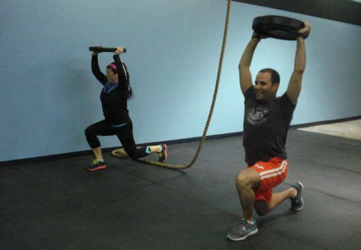 WOD 041212: Press KB Swings Lunges