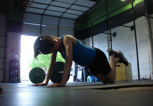WOD 041612: Thrusters Burpees Pullups