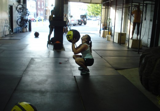 WOD 071712: TGUs and Med Ball Cleans