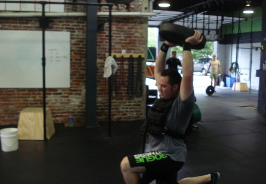 WOD 081412: Lunges on Fire