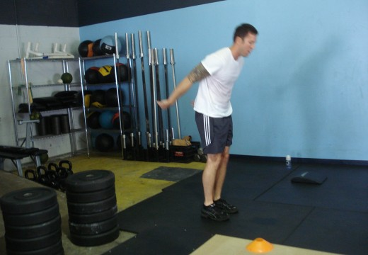 WOD 082512: Lunging Relay