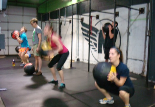 WOD 010413: Thats a lot of Med Ball Cleans!