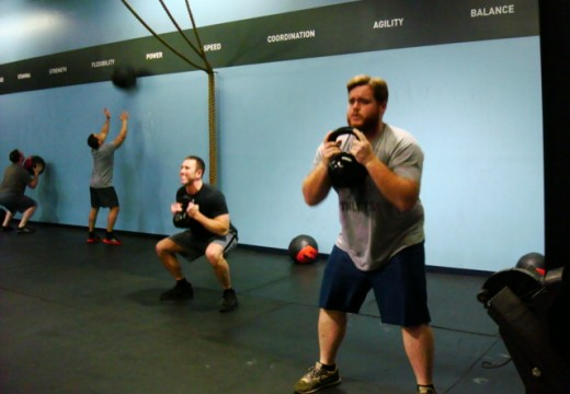 WOD 021413: 2 Handed KB Cleans