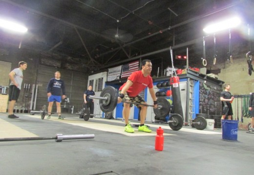 WOD 041114: No better way to start the weekend than working on stability overhead!