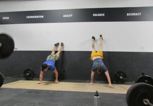 WOD 041414: Didn't Mama Teach You Not to Climb on the Walls??!!