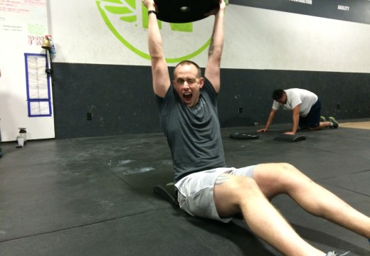 WOD 102214: Weighted Med Ball Pullups… Nuff Said