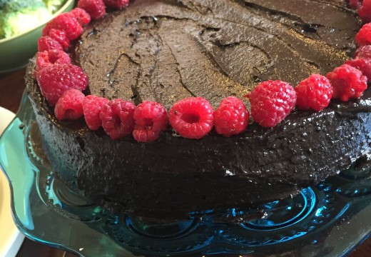Vegan Beet Cake with Chocolate Avocado Frosting