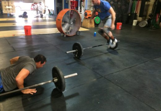 WOD 083116: Burpees over the Bar