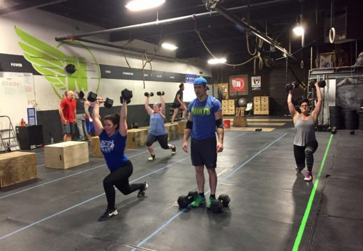 WOD041917: DB Overhead Walking Lunges!